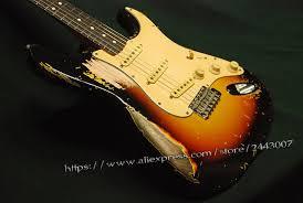 GC Custom Shop Red Hot Chili Peppers John Frusciante 1962 Sunburst Heavy Relic Electric Guitar