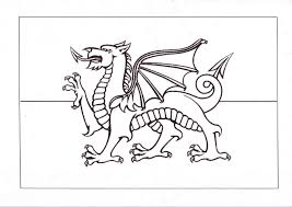 Wales Flag Coloring Pages