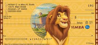 Lion King Designer Checks