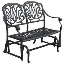 Veranda Metal Patio Loveseat Glider by Patio Rocking Chairs U0026 Gliders You U0027ll Love Wayfair