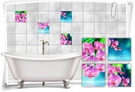 kachel dekore fliesen aufkleber orchideen blumen wellness