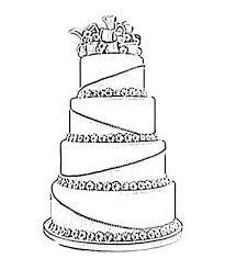 Wedding Cake clipart sketch 4