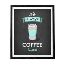 Its Always Coffee Time Grey Kitchen WallsKitchen Wall ArtGrey