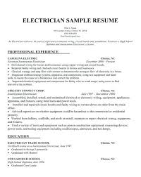 Electrician Resume Sample For Co Example Journeyman