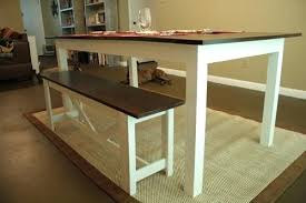 Farmhouse Dining Room Bench Additional Photos Table With
