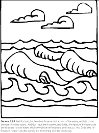 7 Days Of Creation Coloring Pages 687