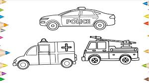 100 Fire Truck Drawing How To Draw A Police Car Truck Ambulance How To Draw A