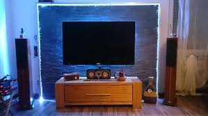 tv wand aus echtschiefer zerlegbar für umzug incl
