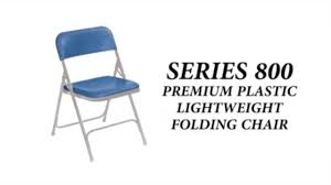 100 Blue Plastic Folding Chairs National Public Seating 800 Series Chair Video