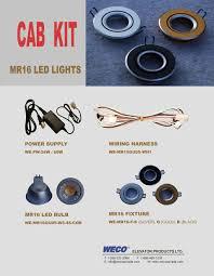 mr16 led cab light kit weco canada