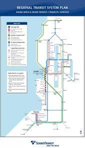 Light rail Seattle map Seattle light rail stations map