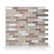 Lowes Canada White Subway Tile by Smart Tiles 6 Pack 9 X 10 Muretto Durango Peel And Stick Vinyl