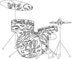 Adult Coloring Pages Drums