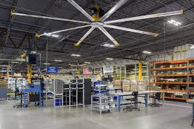 industrial hvls ceiling fans for manufacturing facilities from big