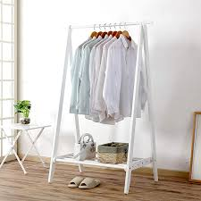 exqui kleiderstange kleiderständer aus holz weiß
