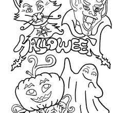 Halloween Monster Coloring Page