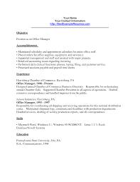 Medical Front Desk Resume Objective by Cover Letter Office Manager Resume Office Manager Resume Bullet