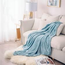 verdickte warme flauschige decke bett sofa fleecedecke mit