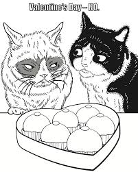 Absolutely Design Grumpy Cat Coloring Pages Book Must Love Cats Pinterest