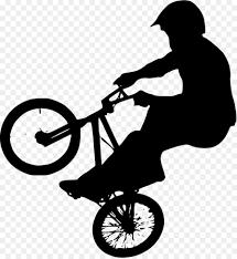 BMX Bike Bicycle Silhouette Clip Art