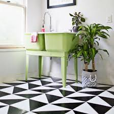 learn how to make your own patterned linoleum tile floor diy