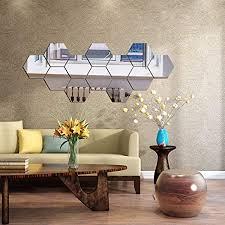 spiegel wandaufkleber sechseckiger spiegel dekoration sechseckig acryl wandbild kunststoff fliesen zuhause wohnzimmer schlafzimmer sofa