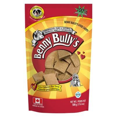 Benny Bullys Liver Chops Original Dog Treats - 500g