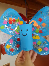 3 Manualidades Divertidas Para Hacer Con Ninos Butterfly CraftsButterfly KidsButterfly StagesSpring