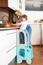 montessori kitchen step stool which can be easily