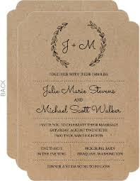 Rustic And Western Wedding Invitations