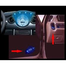 neon pour voiture exterieur 4 micro spots leds bleues ring eclairage tuning néons et