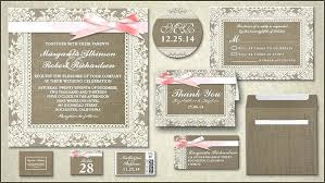 Burlap Lace Rustic Wedding And Invitations Diy Invitation Sets