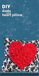 Cute Girly Diy Room Decor Make This Fun Shaggy Heart Pillow For Your Projects With Crafts