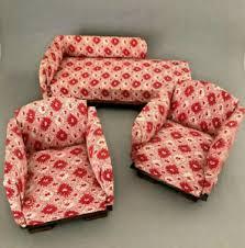 details zu chaiselonge 2 sessel 30er jahre für die puppenstube
