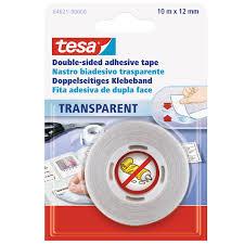 tesa doppelseitiges klebeband transparent 10 m x 12 mm