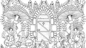 Free Garden Coloring Page For Adults