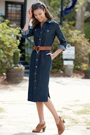 denim shirtdress classic women u0027s clothing from chadwicksofboston