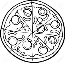 Pie clipart black and white cute