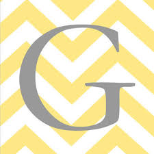 shop yellow and gray chevron decor on wanelo