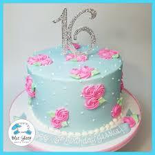 Alice in Wonderland Rosette Birthday Cake