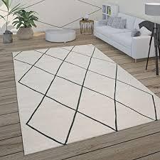 paco home teppich wohnzimmer skandi rauten muster modern weiß verschiedene designs größen grösse 160x230 cm farbe weiß 2