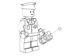 Lego Policeman Models Coloring Page