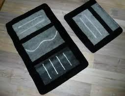 badezimmergarnitur 2 teilig neu schwarz grau weiss eur 7