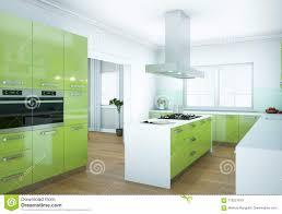 100 Flat Interior Design Images Green Modern Kitchen Illustration Stock
