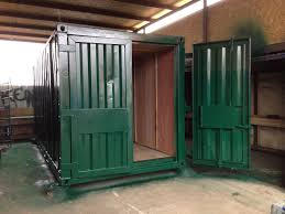 100 Storage Container Conversions 20ft X 8ft Green Used Ply Lined