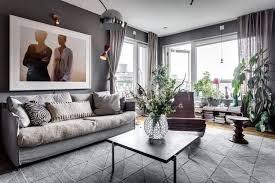 mit grau und braun einrichten penthouse mit dachterrasse