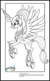 Beautiful My Little Pony Princess Coloring Pages 58 For Your Kids With
