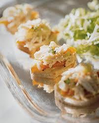 crab canapes crab salad canapes