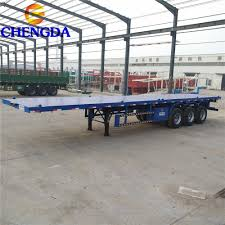100 Flatbed Truck Bodies Triaxle Trailer 40 Feet Container Trailer Buy Triaxle Trailer 40 Feet Container Trailer