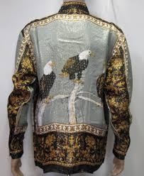 men vintage shirt eagles vintage silk shirt versace men